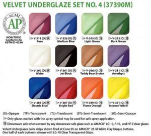 AMACO Velvet Underglaze Set