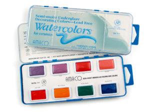 AMACO Non-Toxic Semi-Moist Underglaze Watercolor