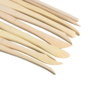 Wooden Modeling Tools for Clay
